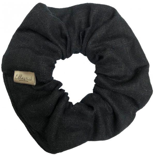scrunchie ellastiek zwart
