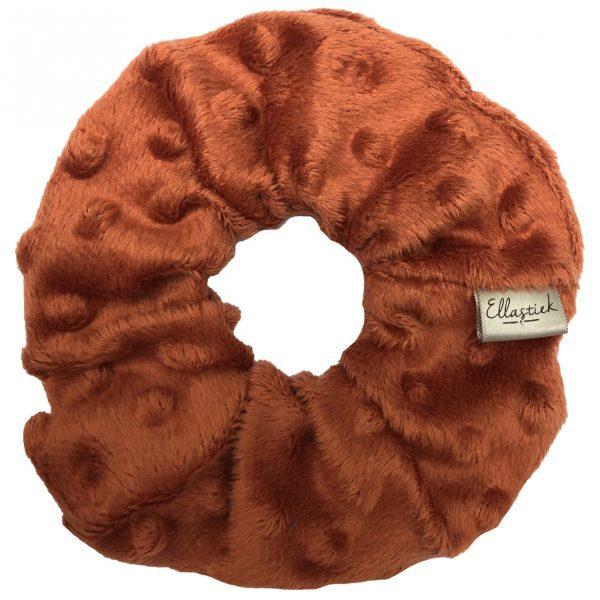 scrunchie ellastiek bruin oranje
