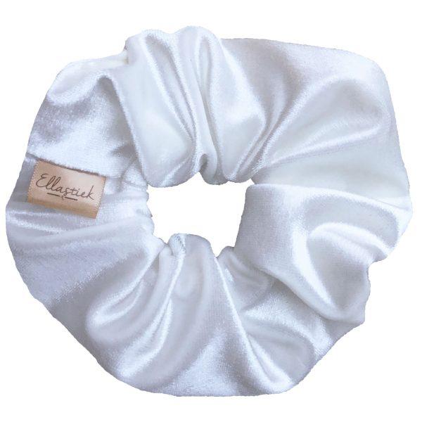 witte scrunchie velvet