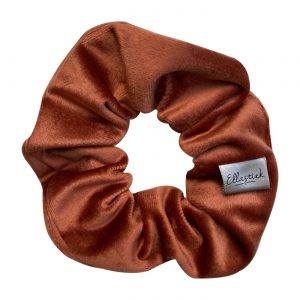 scrunchie velvet terracotta