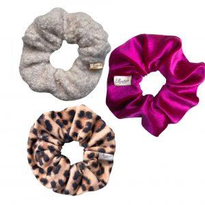 Scrunchie box - scrunchie set 3 stuks met verschillende stoffen en prints