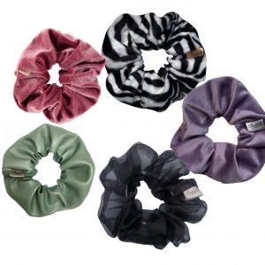 scrunchie box - scrunchie set met verschillende prints en stoffen