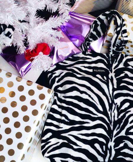 XL tas met zachte stof en met zebraprint