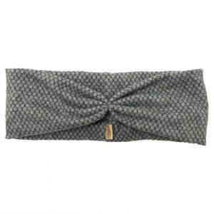 Haarband van zachte stof in de kleur grijs