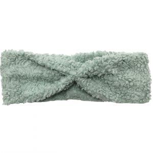 haarband van fluffy stof in de kleur mint groen