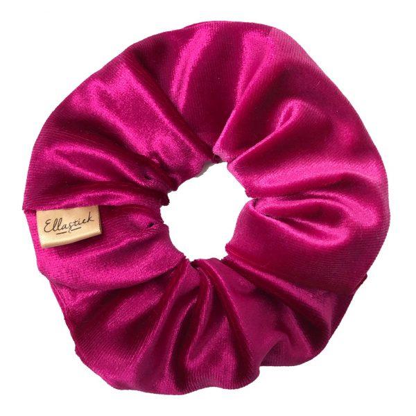 scrunchie van zachte stof met als kleur roze
