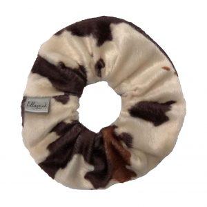 scrunchie met zachte stof met dierenprint