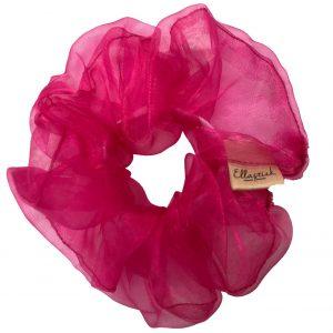 scrunchie van de stof organza met als kleur roze
