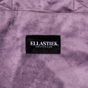 logo elastiek op de voorkant van de XL tas in lila velvet