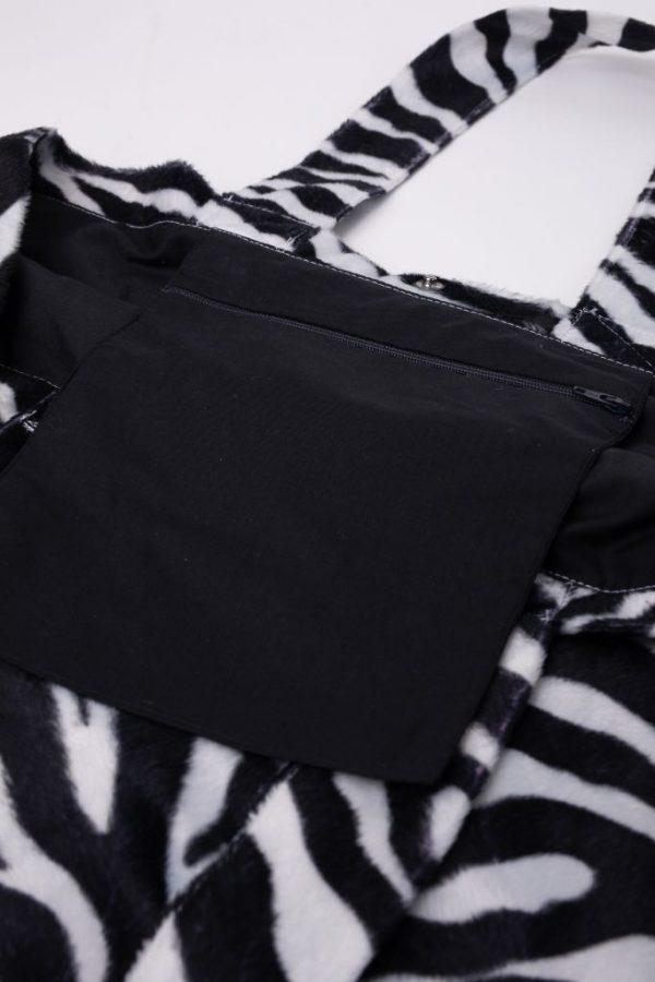 binnenzak met rit s van zebra tas