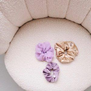 verschillende scrunchies satijn/oganza/velvet