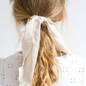 beige linnen haarsjaal livstrik