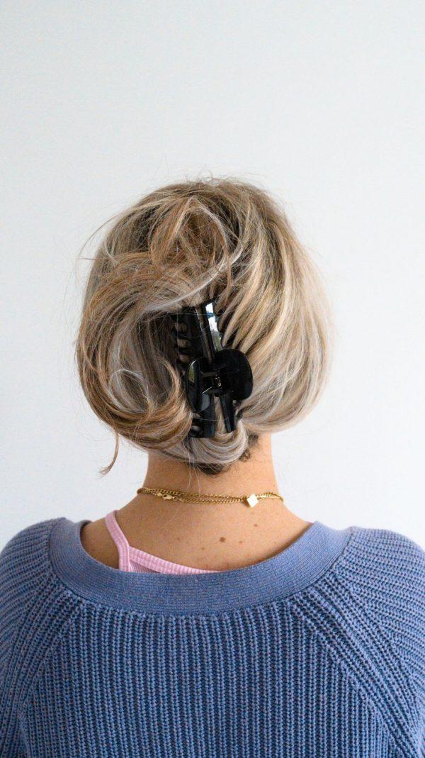 Zwarte haarclip, haarklem