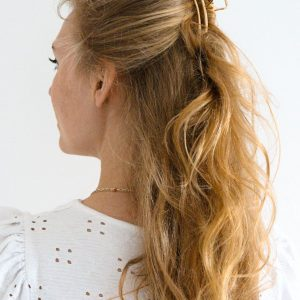 goud, haarklem, haarclip