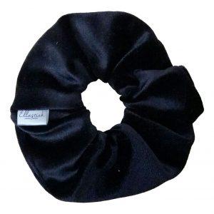 productfoto zwart velvet scrunchie